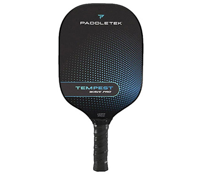 Paddletek Tempest Wave Pro Pickleball Paddle (Thin) (Blue)