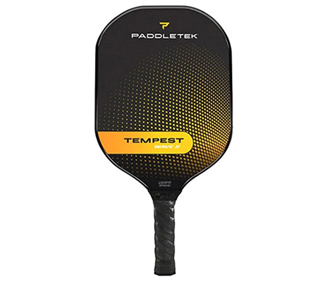 Paddletek Tempest Wave II Pickleball Paddle (Yellow)