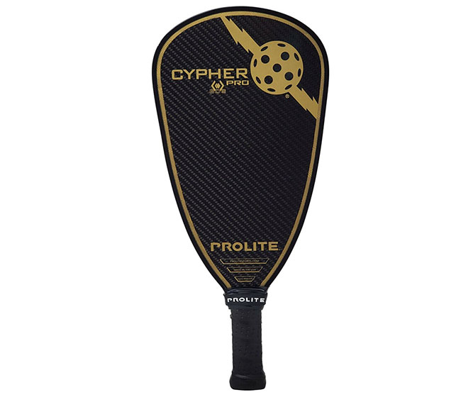 ProLite Cypher Pro Black Diamond Serises Pickleball Paddle (Black/Gold)