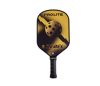 ProLite Rebel Powerspin Pickleball Paddle (Yellow)