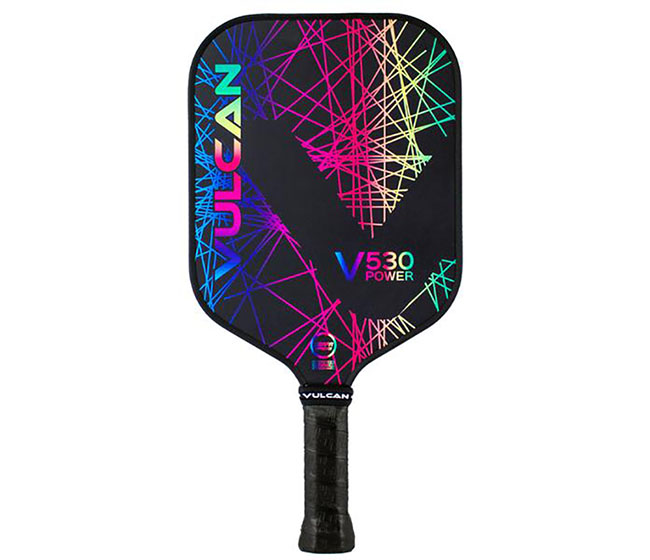 Vulcan V530 Power Pickleball Paddle (Rainbow Lazer)
