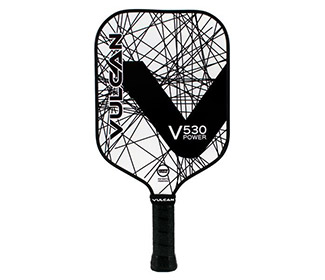 Vulcan V530 Power Pickleball Paddle (Black Lazer)